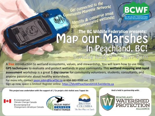 Poster for Peachland Map our Marshes1