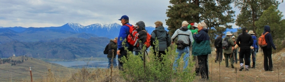 18 Oliver Osoyoos Naturalist Society landscape group looking at Osoyoos Lake